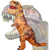 Wild Cheers Inflatable Dinosaur Costume, 2.2m High, Jurassic T-Rex Costume, Screaming, Suitable for Halloween, Birthday Party