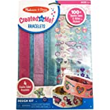 Melissa & Doug 4217 Design-Your-Own Bracelets with 100+ Sparkle Gem and Glitter Stickers