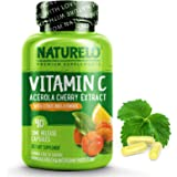 NATURELO Vitamin C with Organic Acerola Cherry and Natural Citrus Bioflavonoids - Whole Food Vegan Supplement - 500 mg - Time