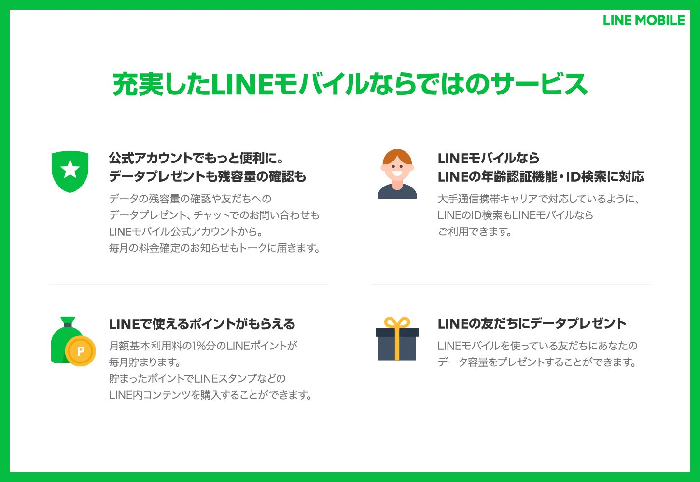 LINEモバイルのサービス