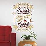 RoomMates Harry Potter Marauder's Map Quote Peel and Stick Giant Wall Decals,Multicolor