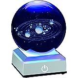 宇宙 クリスタルボール 80mm 太陽系 水晶玉 癒し グッズ 八つ惑星 置物 雰囲気 ベッドサイドランプ ソーラーシステム 学習用器具 オブジェ ホーム 寝室 ライト おしゃれ おもちゃ 天文愛好家にギフト かわいい インテリア LEDライト 多色