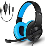 Gaming Headset for Xbox One, PS4, Nintendo Switch, DIWUER Stereo Bass Surround Noise Cancelling Over Ear Headphones with Flex