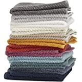 Washcloths by Living Fashions 12 Pack 100% Extra Soft Ring Spun Cotton Size 12 X 12 Soft and Absorbent Machine Washable Vibra