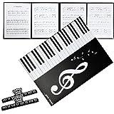 [内野音楽]楽譜ファイル カバー 書き込みできる4面台紙 2面3面可 A4 クリップ付 [黒]【ラク描きファイルで演奏革命】