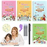 Magic Practice Copybook for Children, Reusable Calligraphy Tracing Book for Kids, Writing Practice Book with magical pen for