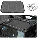 RT-TCZ Durable Mesh Shade Top Cover Provides UV Sun Protection for 2007-2017 Jeep Wrangler JK or JKU -2 Door (black)