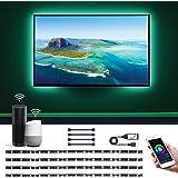 Lepro Alexa対応 LED テープライト RGB テレビバックライト 0.5Mx4本 Alexa/Google Assistant対応可能 USB給電式 WIFIコントロール 間接照明 イルミネーション クリスマス飾り パーティー 雰囲気作り