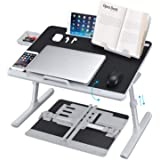 Laptop Desk for Bed, NEARPOW XXL Bed Table Bed Desk for Laptop and Writing, Adjustable Computer Tray Laptop Stand for Bed or