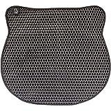 Triple Layer Cat Litter Box Mat, Cat Shape Anti Slip Waterproof Honeycomb Design, Easy Clean Scatter Control, Le Chat