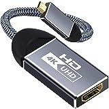 [Amazonブランド] Eono(イオーノ) -Micro HDMI HDMI 変換 マイクロhdmi HDMI 変換アダプタ hdmi micro変換ケーブル 4K @60Hz 高解像度 双方向の音声ビデオが同時に送信できる micro hdmi