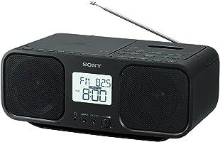 ソニー SONY CDラジオカセットレコーダー CFD-S401 : FM/AM/ワイドFM対応 大型液晶/カラオケ機能搭載 電池駆動可能 ブラック CFD-S401 B