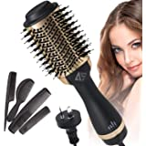 AUSELECT Hair Dryer Brush, Hot Air Brush, 4in1 One Step Hair Dryer & Volumizer AU Plug Hair Hot Dryer (Gold)