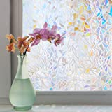bofeifs Rainbow Window Film Static Cling Decorative Privacy Reusable Glass Film for Home, Heat Control 17.5 x 78.7 inches