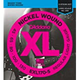 D'Addario ダダリオ ベース弦 ニッケル Long Scale 5弦 .045-.130 EXL170-5 【国内正規品】