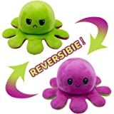 VCOSTORE Reversible Octopus Plush Toy, Double Sided Flip Octopus Toys, Stuffed Animals Doll Toys, Soft Lovely Gift Creative T