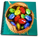 3dRose db_9379_3 Basket of Chocolate Easter Eggs Mini Notepad, 4 by 4""