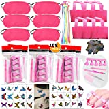 102PCS Spa Party Favors for Girls Women Multiple Spa Supplies Bday Gift - Spa Masks Tote Bags Colored Hair Extensions Body Bu
