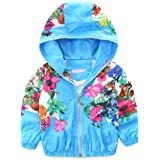 Mud Kingdom Little Girls Jackets Floral with Hood Coats