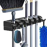 HYRIXDIRECT Mop and Broom Holder Wall Mount Heavy Duty Broom Holder Wall Mounted Broom Organizer Home Garden Garage Storage R