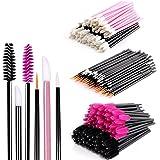 (Black) - Disposable Makeup Applicators Mascara Wands - BTArtbox Disposable Eyelash Brushes & Lipstick Applicators & Eyeliner