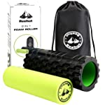 Reehut 2-in-1 Foam Roller Trigger Point Massage for Painful, Tight Muscles + Smooth Rollers for Rehabilitation! Free User...