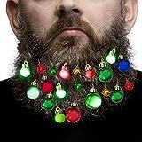 Beard Lights Ornaments for Men Girls Hair Pets Lights up Your Beard Ornaments for Christmas Home Party Accessories 20 pcs inc