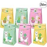 Llama Party Favor Bags Llama Cactus Gift Bags Mexico Fiesta Cinco de Mayo Goodie Treat Bags Themed Baby Shower Birthday Party
