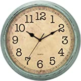 HYLANDA 12 Inch Vintage/Retro Wall Clock, Silent Non-Ticking Quartz Decorative Wall Clocks Battery Operated with Large Number
