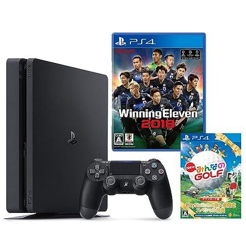 PlayStation 4 500GB + ウイニングイレブン2018 + New みんなのGOLF ダウンロード版