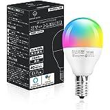 【Amazon限定ブランド】Amazon Alexa認定 LED電球 マルチカラー 40w形相当 口金 E17 調光調色 Amazon Alexa Google Home 対応 TV5-G45 Smart Here