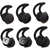 ALXCD Ear Tips for Bose SoundSport Free Headphone, S/M/L 3 Pair Soft Silicone Earbud Tips, Fit for Bose Quietcontrol 30 QC30