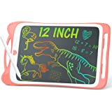 """Jasonwell Kids Drawing Pad Doodle Board 12"""" Colorful Toddler Scribbler Board Erasable LCD Writing Tablet Light Drawing Board"""