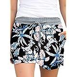 ELF QUEEN Women's Lounge Shorts Summer Elastic Waist Drawstring Pocketed Shorts Comfy Pajama Shorts Casual