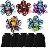 CiaraQ 42pcs Polyhedral Dice, Role Playing Dice Dungeons and Dragons Dice for DND RPG MTG Table Games