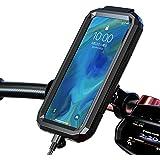 スマホホルダー 自転車 防水 スタンド 防振 バイク用 携帯 スマートフォン 撮影 360度回転 スクーター ホルダー 固定用 7インチ以下 iPhone Galaxy Android 多機種対応 M18L