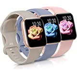 Sport Band Compatible with Apple Watch iWatch Bands 38mm 40mm 42mm 44mm,Soft Silicone Strap Wristbands for Apple Watch Series
