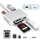 【Upgraded Version】 XQD Card Reader USB 3.0 SD(HC/XC) TF Card Reader,XQD Reader Compatible with Sony G/M Series USB Mark XQD C