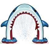 Anpro Giant Shark Sprinkler for Kids - Summer Inflatable Water Toys Outdoor Arch Sprinkler for Boys Girls, Outside Water Game