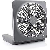 O2COOL O2COOL Treva 10-Inch Portable Desktop Air Circulation Battery Fan - 2 Speed - Compact Folding & Tilt Design - with AC