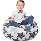 Stuffed Animal Storage Bean Bag - Large Beanbag Chairs for Kids - 90+ Plush Toys Holder and Organizer for Boys and Girls - 10