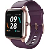LETSCOM Smart Watch, GPS Running Watch Fitness Trackers with Heart Rate Monitor Step Counter Sleep Monitor, IP68 Waterproof D