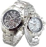 限定品 ペアウォッチ Don Clark Anne Clark カップル 腕時計 幸運のセブンダイヤモンド クロノグラフ…