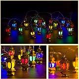 ANPHSIN Ramadan Eid String Light- 9.8ft 20LEDs Battery Operated Mubarak Islam Decorative Indoor Lantern Lights String with 2