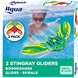 Aqua AQW12988 Mini Stingray Underwater Glider, Self-Propelled, Adjustable Fins, Pool Game (2 Pack)