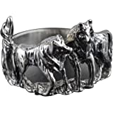 Blue Apple Co. Wolves Band Ring 925 Sterling Silver Wolf Pack Ring Wolves