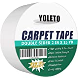 Double Sided Carpet Tape with Strong Stickiness, Anti-Slip Heavy Duty Rug Tape for Area Rugs, Carpets, Runners, Mats, Stair T