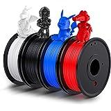 3D Printer PLA Filament 1.75mm, LABISTS Plastic 3D Printing PLA Filament Bundle Flexible Materials 1kg/2.2lb, 0.25KG/Spool 4