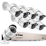 ZOSI 230万画素 防犯カメラセット フルハイビジョン 230万画素 防犯カメラ8台 +ミニ 8ch TVIデジタルレコーダー ネットワーク機能 パソコンやスマホ遠隔監視対応 日本語対応 HDDなし