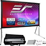 Elite Screens Yard Master 2, 100 inch Outdoor Projector Screen with Stand 16:9, 8K 4K Ultra HD 3D Fast Folding Portable Movie